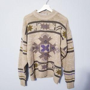 Vintage 80's McGregor Print Grandpa Sweater